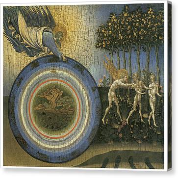 Expulsion From Paradise Canvas Print by Giovanni Di Paolo
