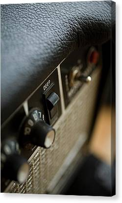 Extreme Close-up Angled Shot Of An Amplifier Canvas Print by Christopher Kontoes