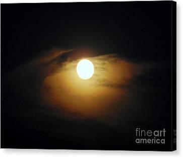 Eye Moon Canvas Print by Mariana Robu