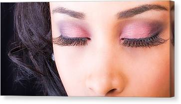 Eyelashes Canvas Print by Val Black Russian Tourchin