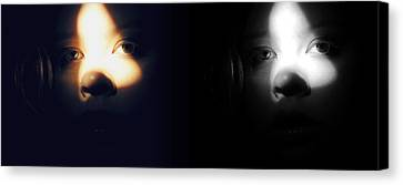 Eyes In Darkness Canvas Print by Guadalupe Nicole Barrionuevo