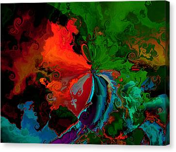 Faa Abstract 3 Invasion Of The Reds Canvas Print by Claude McCoy