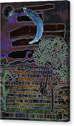 Fabric Of Life 2 Canvas Print by Kenneth James