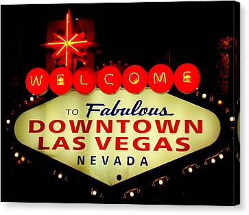 Fabulous Downtown Canvas Print by Randall Weidner