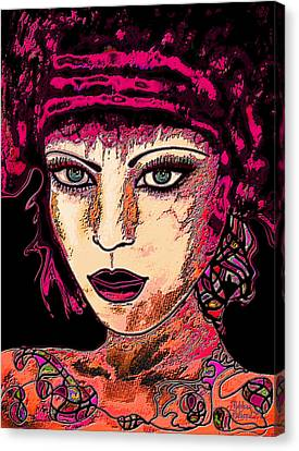 Face 13 Canvas Print by Natalie Holland