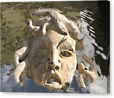 Face In Woter Canvas Print by Yury Bashkin