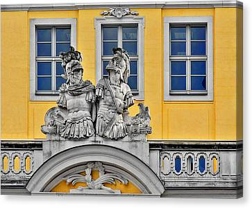 Faces Of Places In Dresden Canvas Print by Christine Till