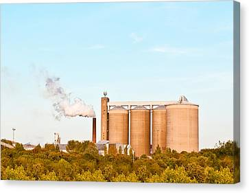 Factory Canvas Print by Tom Gowanlock