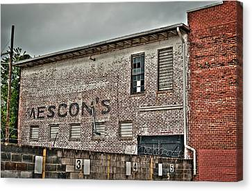Faded Facade Canvas Print by Andrew Crispi