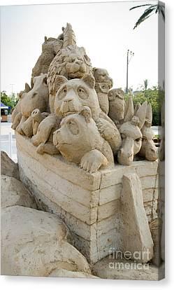 Fairytale Sand Sculpture  Canvas Print by Sv