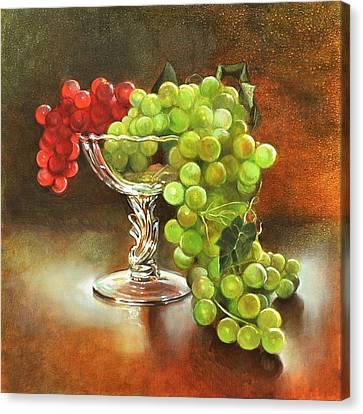 Fall Grapes Canvas Print by Cynthia Peterson