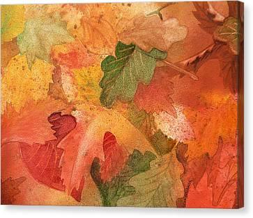 Fall Impressions II Canvas Print by Irina Sztukowski