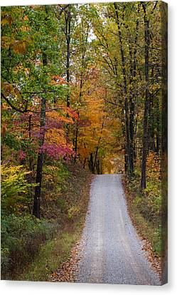 Fall In Southern Indiana Canvas Print by Melissa Wyatt