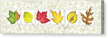 Fall Leaf Panel Canvas Print by JQ Licensing