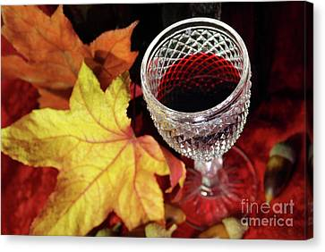 Fall Red Wine Canvas Print by Carlos Caetano