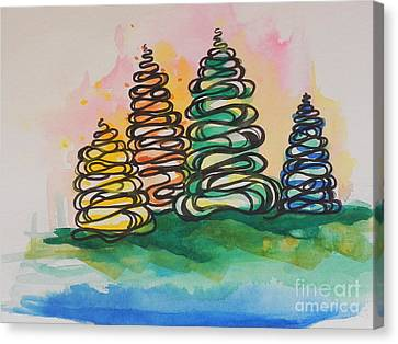 Fall Season ..swirling In... Canvas Print by Chrisann Ellis