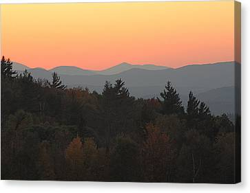 Fall Sky At Sunset Canvas Print by Robin Regan