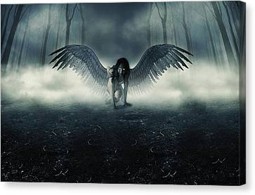 Fallen Angel Canvas Print by Ryan Shaffer
