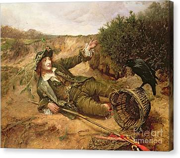 Fallen By The Wayside Canvas Print by Edgar Bundy