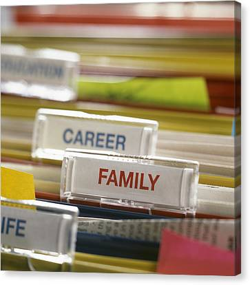 Family Before Career Canvas Print by Tek Image