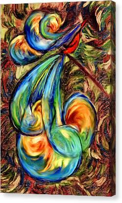 Fanciful Bird Canvas Print by Judi Quelland