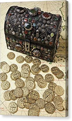 Fancy Treasure Chest  Canvas Print by Garry Gay