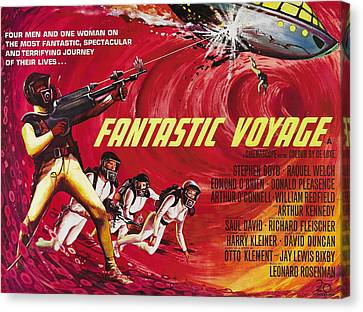 Fantastic Voyage, British Poster Art Canvas Print by Everett
