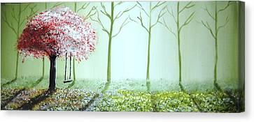 Fantasy Garden Canvas Print by Edwin Alverio