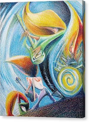 Fantasy Rock Psychedelic Live Concert Canvas Print by Fabrizio Cassetta