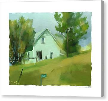 Farm House In Lucknow Ontario Canvas Print by Bob Salo