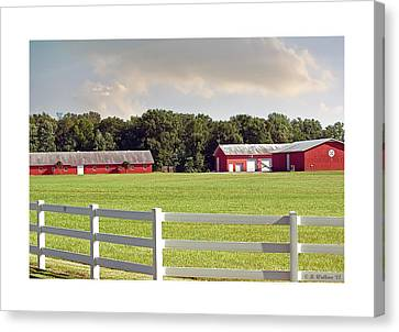 Farm Pasture Canvas Print by Brian Wallace