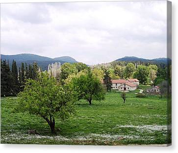 Farmhouses Canvas Print by Constantinos Charalampopoulos