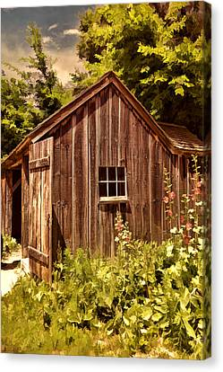 Farming Shed Canvas Print by Lourry Legarde