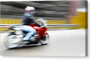 Fast Superbike India Canvas Print by Kantilal Patel