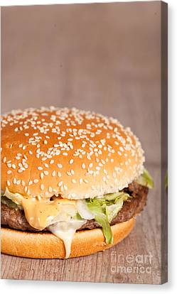 Fat Hamburger Sandwich Canvas Print by Sabino Parente