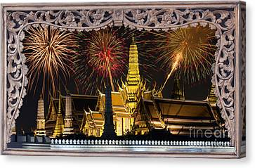 Father Celebrate In Wat Phra Kaew  Canvas Print by Anek Suwannaphoom
