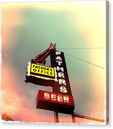 Father's Office Beer Canvas Print by Nina Prommer