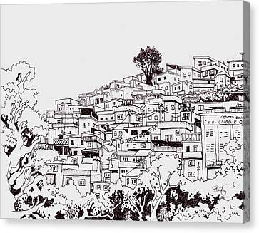 Favelas  Canvas Print by Ben Leary