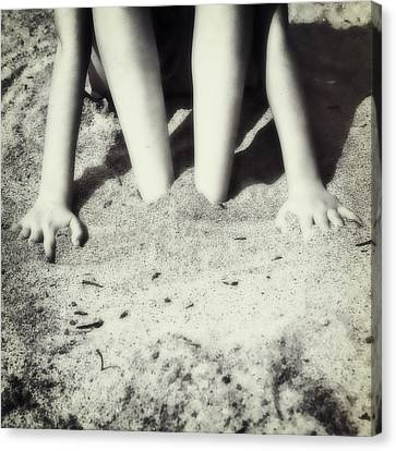 Feet In The Sand Canvas Print by Joana Kruse