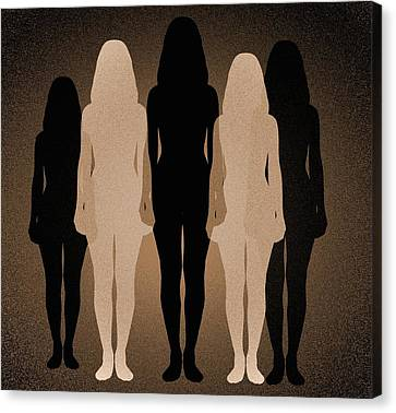 Female Identity, Conceptual Image Canvas Print by Victor De Schwanberg