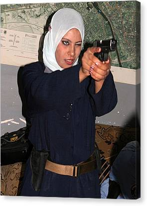 Female Iraqi Police Officers Practice Canvas Print by Everett