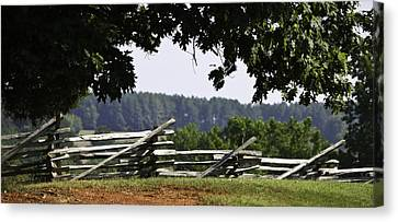 Fence At Appomattox Canvas Print by Teresa Mucha