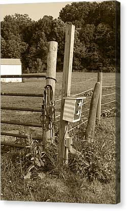 Fence Post Canvas Print by Jennifer Ancker