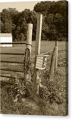 Fence Post Canvas Print by Jennifer Ancker