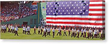 Fenway Park 100th Canvas Print by Joann Vitali