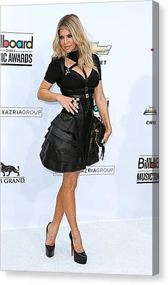 Fergie Wearing A Herve Leger By Max Canvas Print by Everett