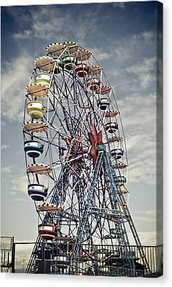 Ferris Wheel Canvas Print by Alex Anashkin