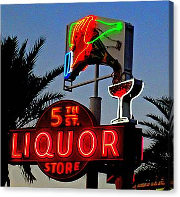 Fifth Street Liquor Canvas Print by Randall Weidner