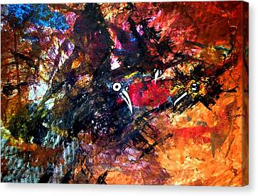 Fight In The Air Canvas Print by Aquira Kusume