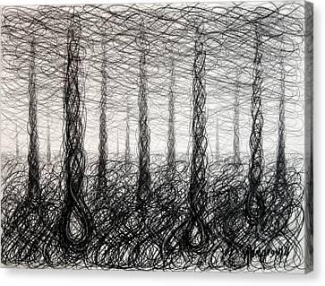 Figure Eight Study Number Twenty Four Canvas Print by Michael Morgan